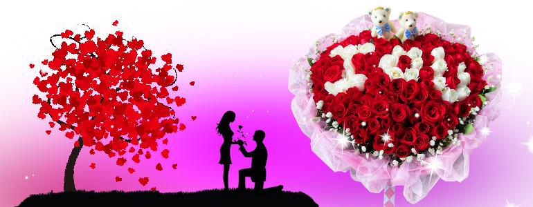 99枝精品红玫瑰