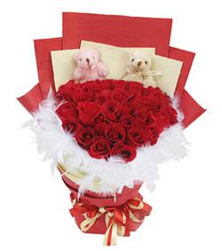 33朵红玫瑰花束(图片)-爱慕鲜花速递