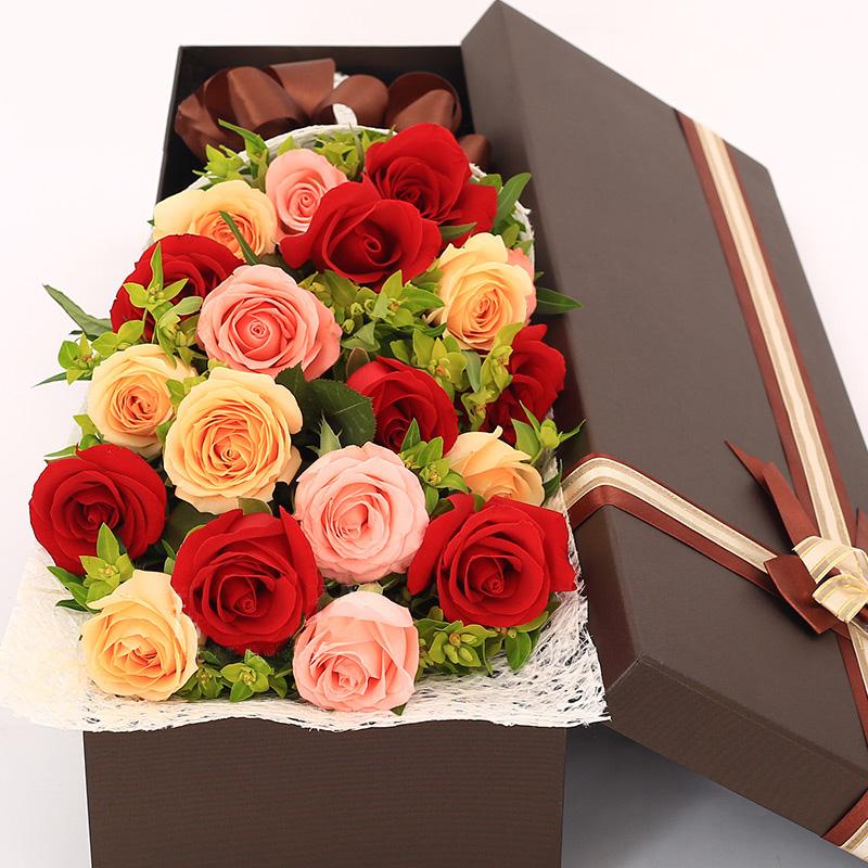 叠纸玫瑰花盒步骤