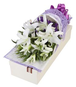 白百合花盒(图片)-爱慕鲜花速递