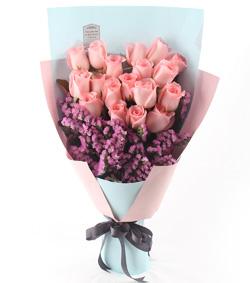十九枝粉玫瑰(图片)-爱慕鲜花速递