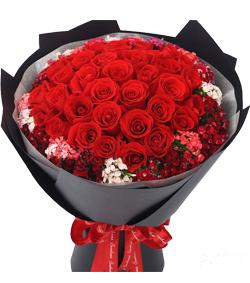 33枝红玫瑰